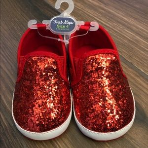 NWT Baby Red Ruby Shoes